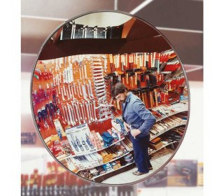 Moravia Detective-X Convex Acrylic Security Mirror 30cm for security in retail shops