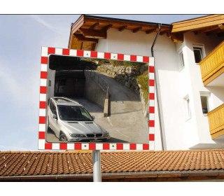 Stainless Steel Convex Traffic Mirror 40x60cm Durabel 1