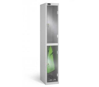 Probe 2 Door Key Lock Clear Vision Anti-Theft Locker offering 100% visibility