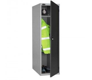 Probe 1 Door Police Key Locking Large Extra Deep Locker black door