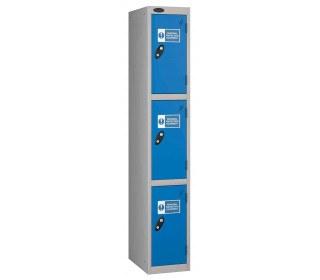 Probe PPE 3 Door Personal Protection Equipment Key Locking Locker