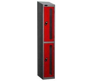 Probe Vision Panel 2 Door Electronic Stock Theft Locker red