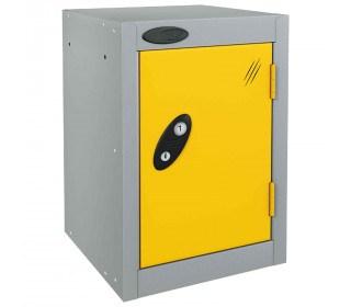 Probe 1 Door Quarto Electronic Locking Modular Locker yellow