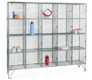 20 Door Locker Metal Wire Mesh Storage
