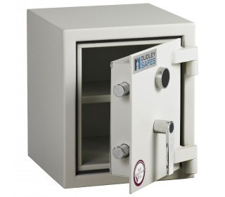 Dudley Harlech Lite S1 Size 00 Insurance Rated Security Safe - door ajar