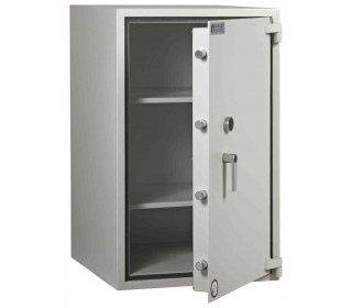 Dudley Harlech Lite Size 5 Large Fire Security Safe  - Door ajar