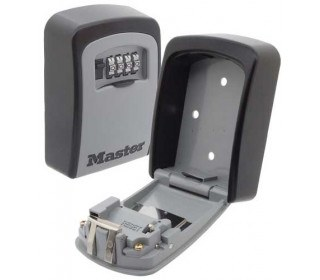 Grey and Black Master Lock Outdoor Key Safe Box. Wheel combination security hides 6-7 Yale style keys