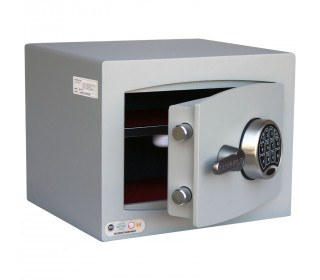Digital Security Safe - Securikey Mini Vault Silver 1E - door ajar
