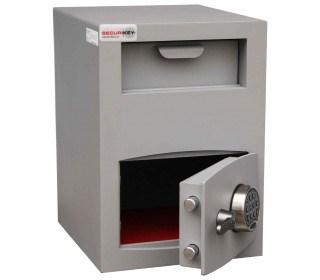 Securikey Mini Vault Silver 2 Deposit Safe Digital Lock - safe door ajar
