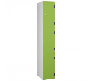 Probe ShockBox Overlay Laminate Door Locker Three Compartments in Lime