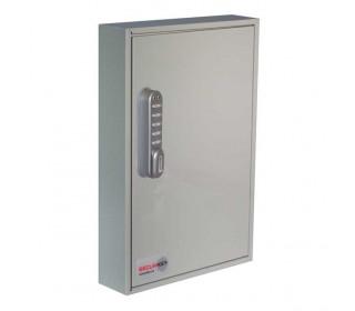 Securikey KC064E Electronic Cam Locking Wall Key Cabinet for 64 Keys