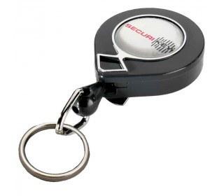 KeyBak MINI-BAK Split Ring Key Reel 60cm Nylon Cord - supplied in a Twin Pack