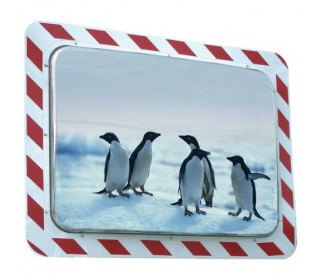 Vialux 854-AB Frost-Free Stainless Steel Traffic Mirror 60x40cm