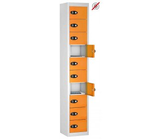 8 Door 8 Tablet Storage Locker  - Probe TABBOX 8D - orange