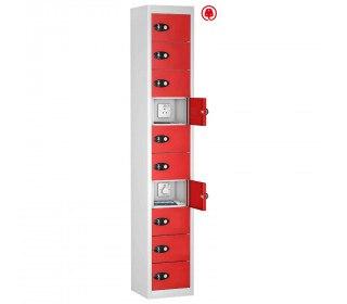 Probe TABBOX 10 Door USB Charging Tablet Locker - Red Door