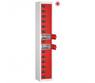Probe TABBOX 15 Door USB Charging Tablet Locker - Red Door