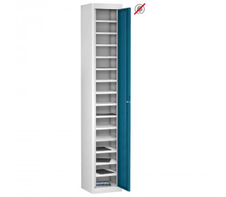 Probe TABBOX 1 door15 Shelf Tablet Storage Locker in Blue