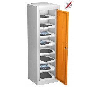 Probe TABBOX 1 Door  8 Shelf Tablet Storage in orange