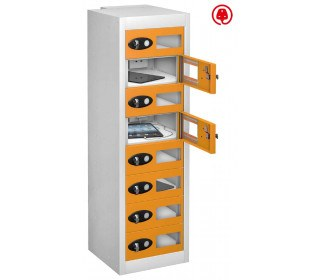 Probe TabBox 8 Tablet USB Charging Vision Locker - Orange Door