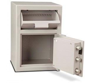 Burton Teller 1E Electronic V-Trap Drawer Deposit Safe - door bolts