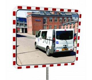 Dancop TM-PC-60x80 Convex Polycarbonate Traffic Convex Mirror - Front View for road junctions