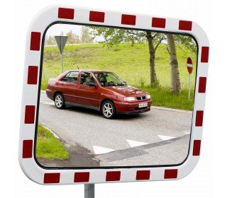 Dancop TM-PC-40x60 Convex Polycarbonate Traffic Convex Mirror - Front View for road junctions