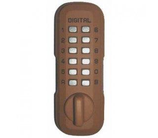 Lockey Digital Spare Door Key Safe - Terracotta