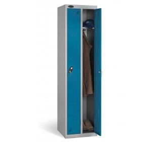 Probe Twin Locker 1780x460x460 key locking blue door open