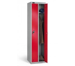 Probe Twin Locker 1780x460x460 Combination locking red door open
