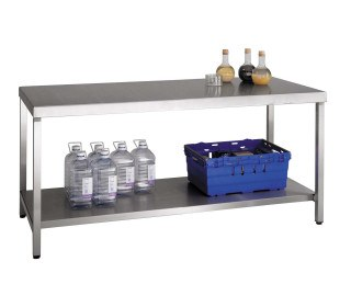 Bedford Type B 180x75cm Stainless Steel Heavy Duty Workbench