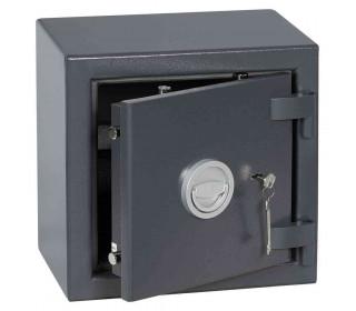 Keysecure Victor Small Eurograde 1 Key Locking Safe Size 1 - Door ajar