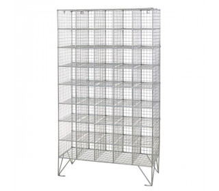 Robinson 40 Compartment Metal Wire Mesh 1360x775 mm open storage locker