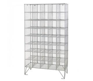 Robinson 40 Compartment Metal Wire Mesh 1360x775x450 mm open storage locker