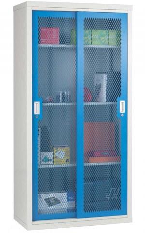 Steel Mesh Sliding Door Cabinet 1830x915x460- Bedford 84MD894