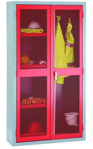 Steel Mesh 2 Door Wardrobe Cabinet - Bedford 88MD894R