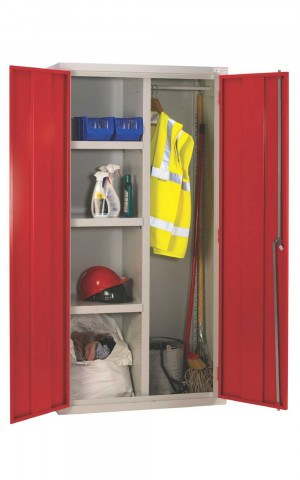 Medium Duty Fully Welded Janitor Cabinet 183x92x46 - Bedford 88W894R