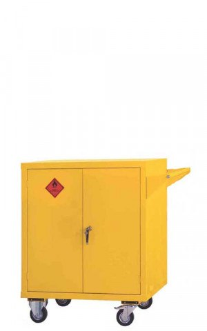 Mobile Flammable COSHH Cabinet 900x900x600 - Bedford 81F996
