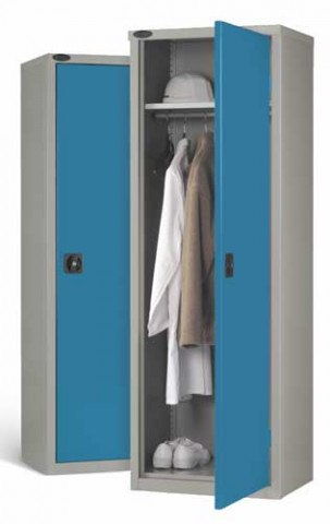 Steel Wardrobe 1 Door for Clothing - Probe SLW702418 - Blue