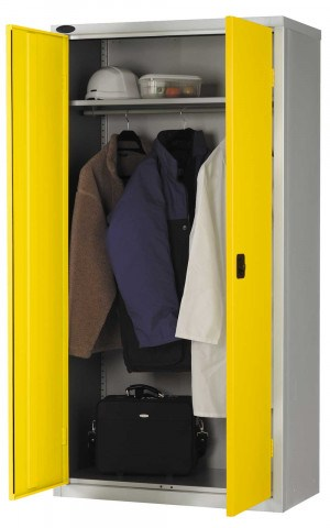 Probe WAR703618 Industrial Double Door Wardrobe 915x460 yellow