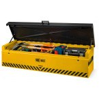 Van Vault Tipper Tested Truck Security Storage Chest - lid open