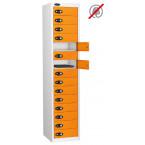 Laptop Storage Locker 15 Door - Probe Lapbox 15STD - Orange