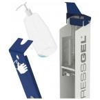 PRESSGEL Sanitiser Floor Fixed Hand Gel Dispenser Holder- replacing gel
