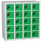 Probe MINIBOX 20 Door Combination Locking Stacking Locker green