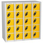 Probe MINIBOX 20 Door Combination Locking Stacking Locker yellow