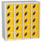 Probe MINIBOX 20 Door Electronic Locking Stacking Locker yellow