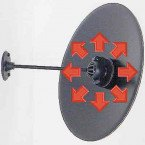 Security Surveillance Convex Wall Mirror 40cm - Showing arm ball joint
