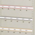 Keysecure Numbered Coloured Laminated 5 Hook Bar Labels