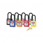 Lock-out Non-Conductive Padlock- Master Lock Zenex 406  - Group Image - all Colours