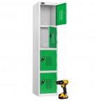 Probe Recharge4 Power Tool Charging Electronic Locker - Green