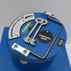 """Churchill CS005 12"""" Round Door Silver Floor Safe £6000 - key lock"""